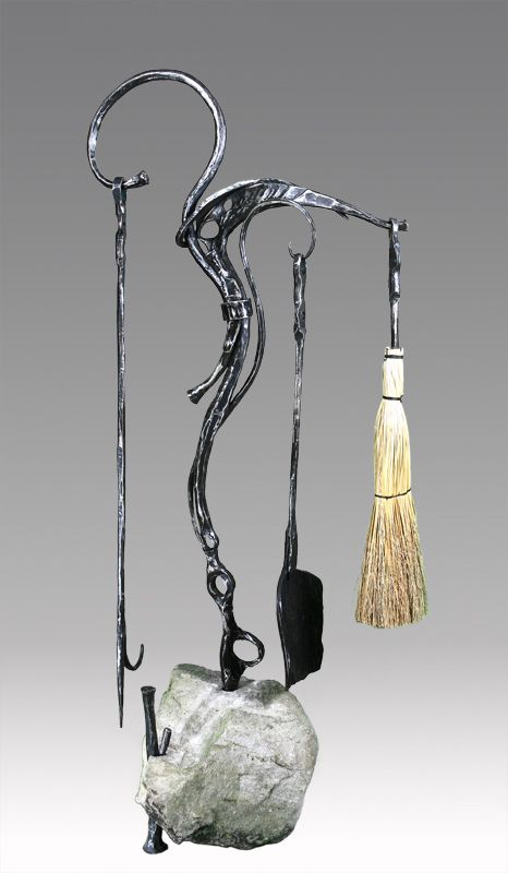 ... tools art nouveau fireplace fireplace set - Fireplace Sets By Mike Edelman